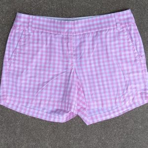 J.Crew Baby Pink & White Checkered Boardsh…